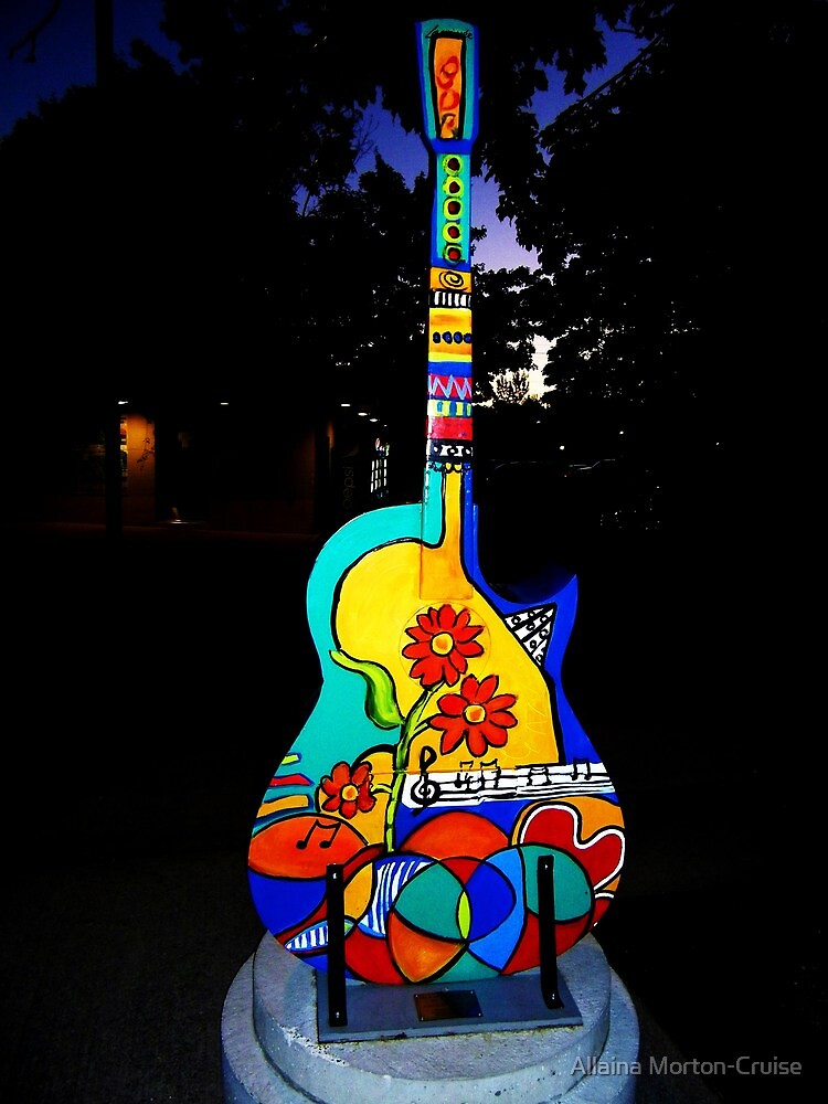 Painted Guitar by Allaina Morton-Cruise