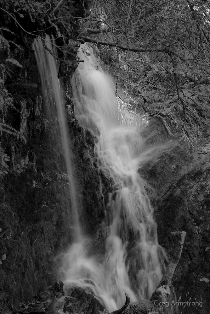 Waterfall in Winter by Greg Armstrong