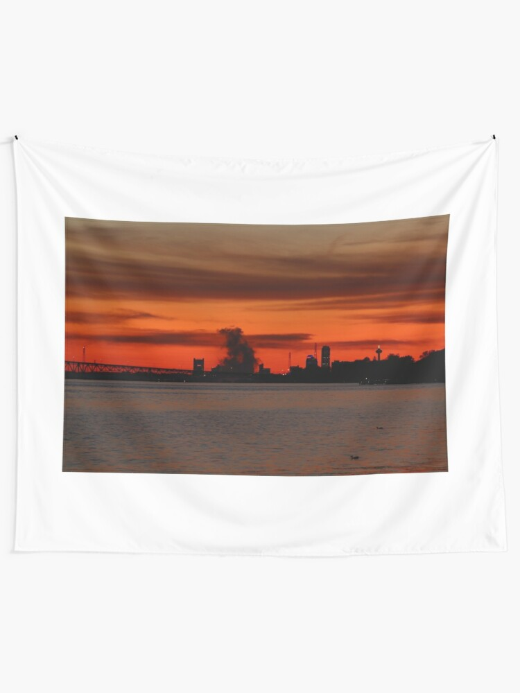 Alternate view of Just Another Golden Niagara Falls Sunset Tapestry