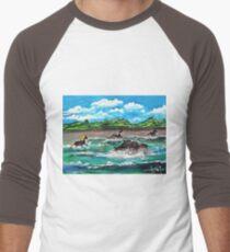 Wild (Sea) Horses...... Men's Baseball ¾ T-Shirt
