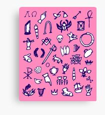 Cemetery Symbology (Pink) Canvas Print