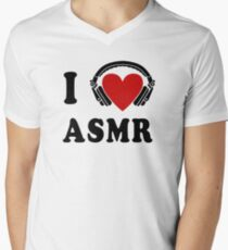 I Love ASMR Men's V-Neck T-Shirt
