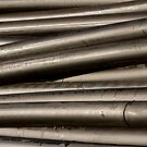 Industrial Tubes Abstract by Bo Insogna