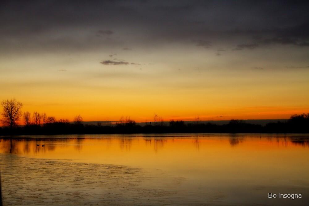 Pella Crossing Ponds Sunrise by Bo Insogna