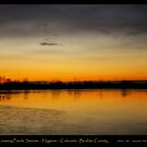 Pella Crossing Ponds Sunrise Poster Print by Bo Insogna