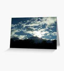 And the light overcame the darkness Greeting Card