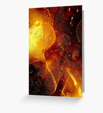 Oil bubbles. II Greeting Card