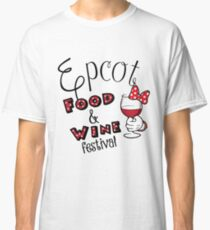 Epcot Food and Wine Festival Minnie Mouse Classic T-Shirt