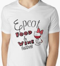 Epcot Food and Wine Festival Minnie Mouse Men's V-Neck T-Shirt
