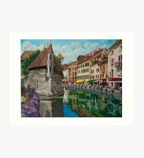 Medieval Jail In Annecy Art Print