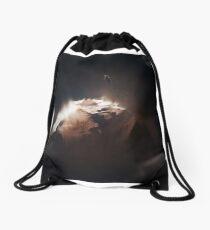 Above the Comet Drawstring Bag
