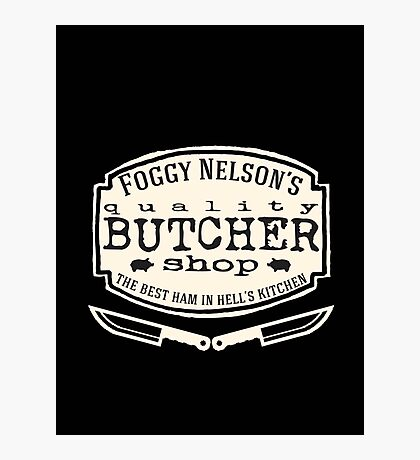 Foggy Nelson's Butcher Shop - Best Ham In Hell's Kitchen  Photographic Print
