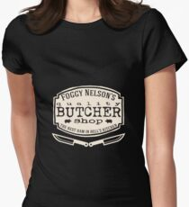 Foggy Nelson's Butcher Shop - Best Ham In Hell's Kitchen  Women's Fitted T-Shirt