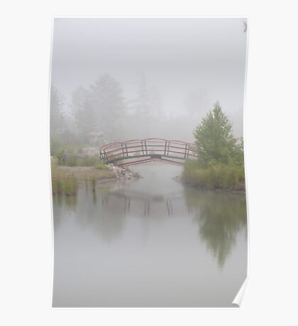 """Spanning Reflections"" - footbridge near Marquette, Michigan Poster"