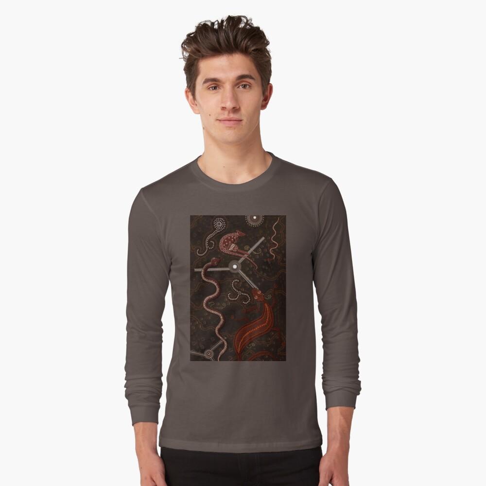 3 Billabongs - Aborigine Styled Art Langarmshirt