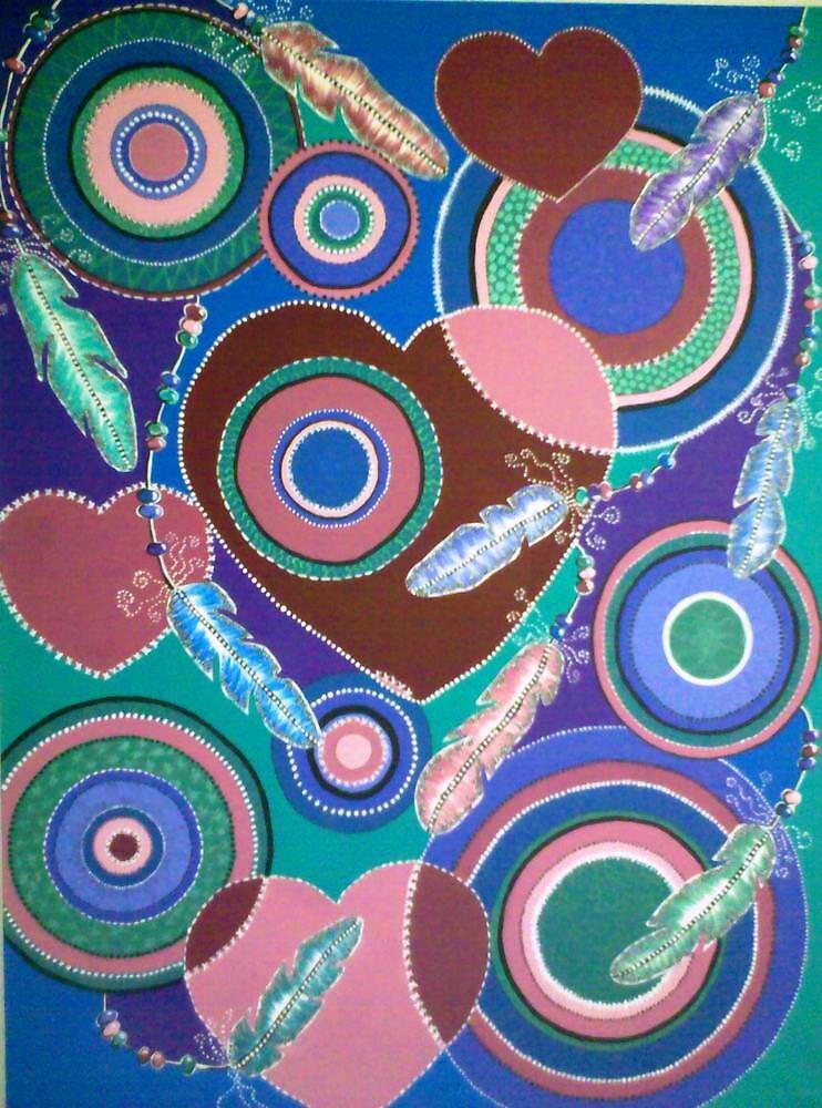 Many Hearts and Mandalas by Kyobe