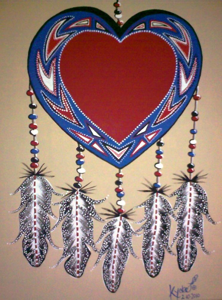 Red Tribal Heart by Kyobe