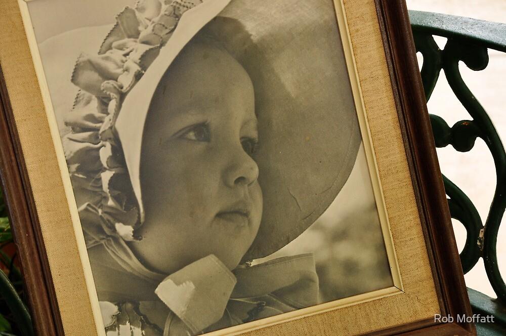 Girl With Bonnet , 1944 by Rob Moffatt