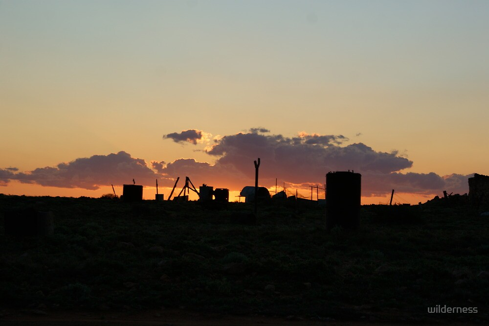 Coober Pedy Sunset by wilderness