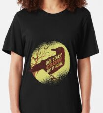 Cool Story Crow Tell It Again Slim Fit T-Shirt