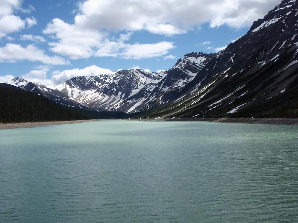 landslide lake - canadian rockies by wishewerear