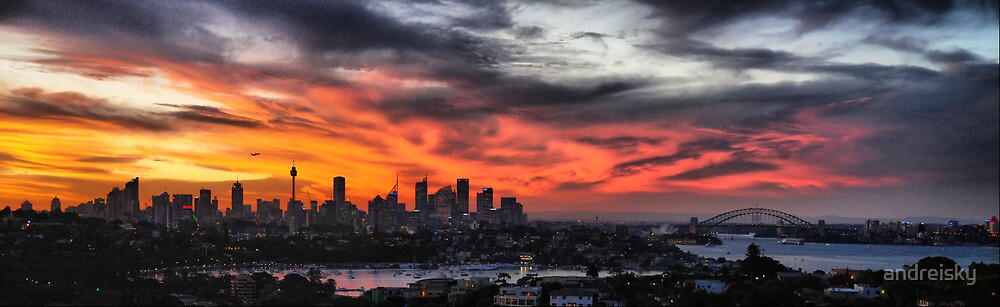 Sydney sunset panorama by andreisky