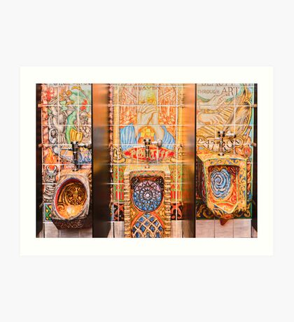 """""""Art On The Go"""" - bathroom art Art Print"""