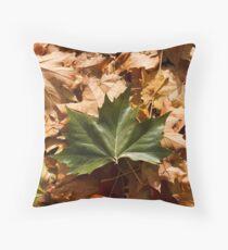 Fallen Maple Leaves Throw Pillow