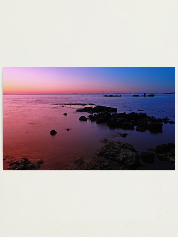 Alternate view of Evening Twilight - Half Moon Bay, Black Rock Photographic Print