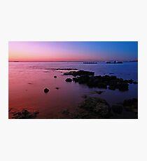 Evening Twilight - Half Moon Bay, Black Rock Photographic Print