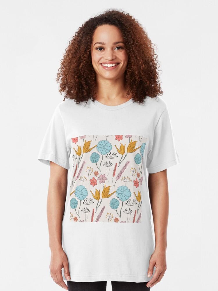 Alternate view of Summer flower print Slim Fit T-Shirt