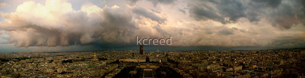 View from the Eiffel, Paris by kcreed