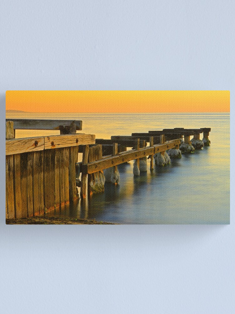 Alternate view of Seaside Ruins - Mentone Canvas Print