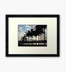 palm sunset port douglas Framed Print