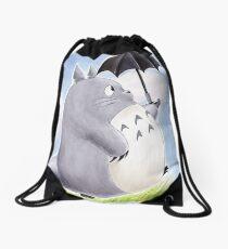 My Family Totoro Drawstring Bag
