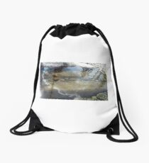 Reflections in the water Drawstring Bag