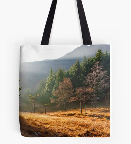 Mist in the Woods Tote Bag