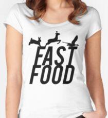 Fast Food Deer Hunter Venison Women's Fitted Scoop T-Shirt