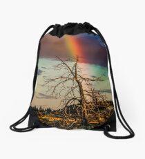 Rainbows-n-old Juniper Drawstring Bag