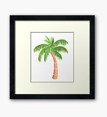 Tropical Palm Tree - Watercolor Framed Print
