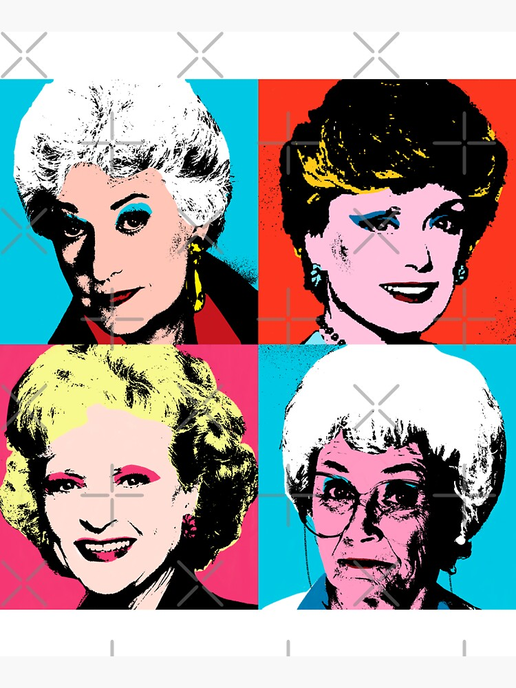 Golden Warhol Girls by Retro-Freak