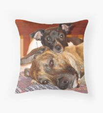 Rocky and Chance Throw Pillow