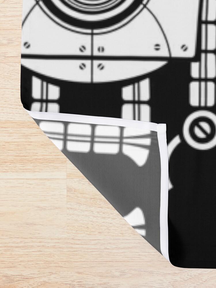 Alternate view of Big Robot 1.0 Shower Curtain