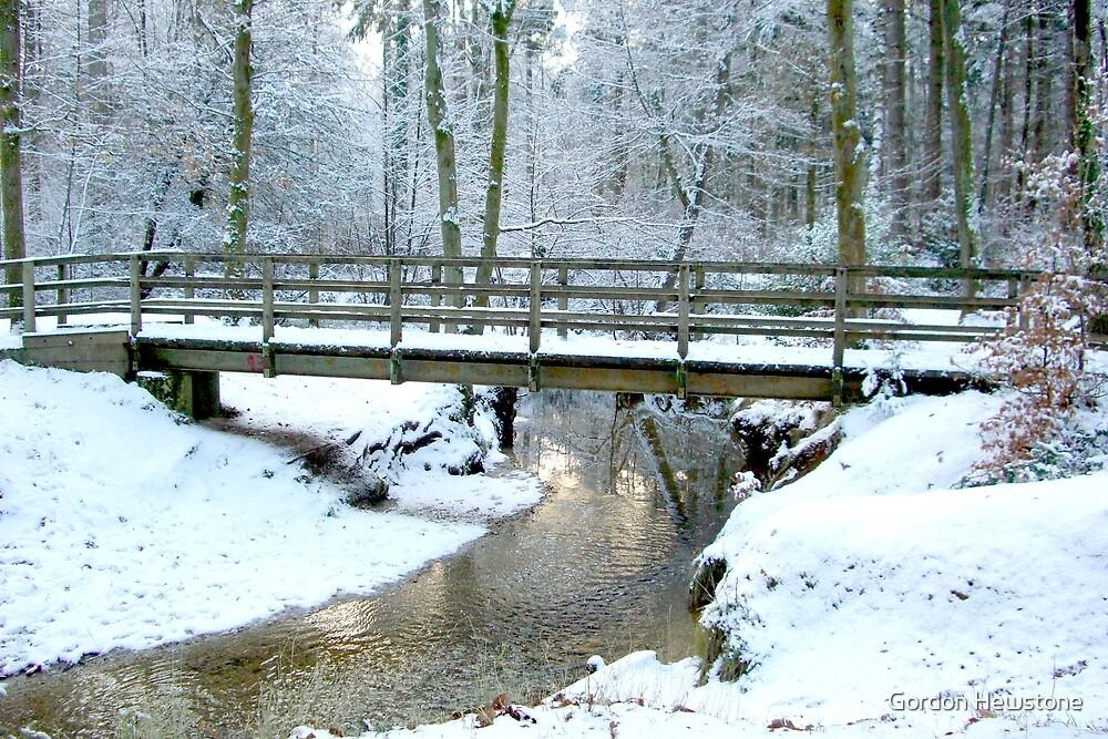 Bridge over Bartley Water in Winter by Gordon Hewstone