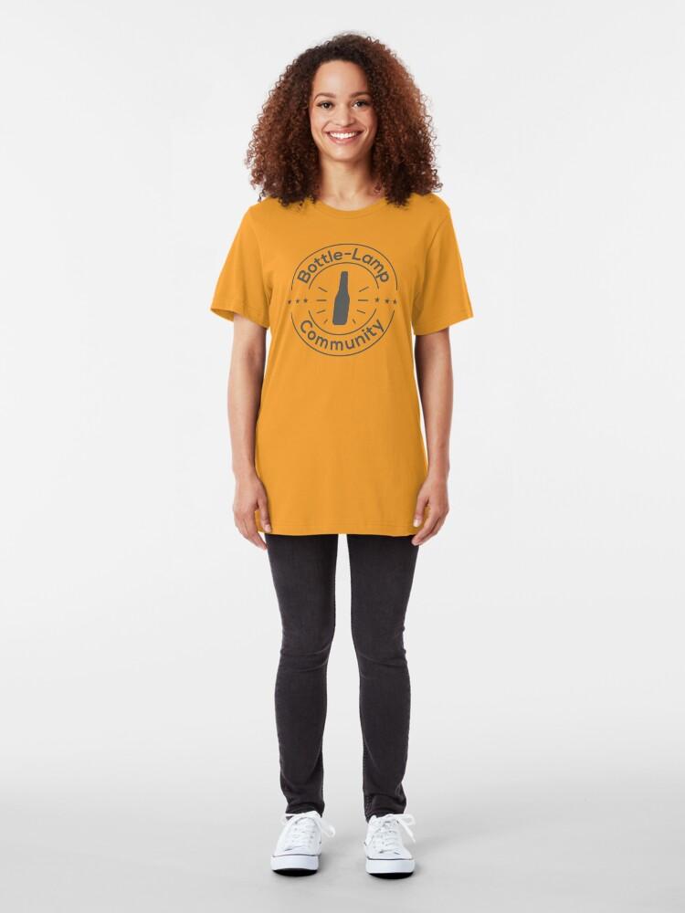Alternate view of Bottle Lamp Community Slim Fit T-Shirt