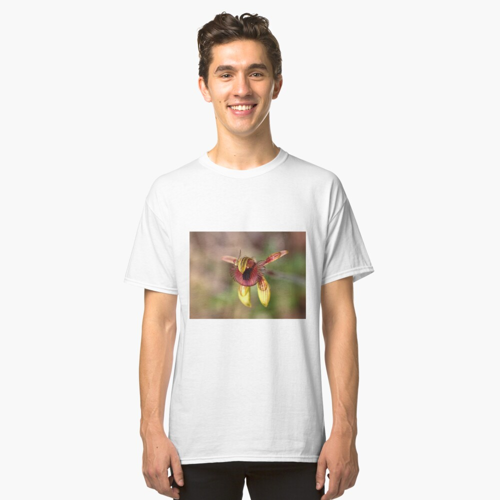 Caladenia discoidea - Dancing Spider Orchid Classic T-Shirt Front
