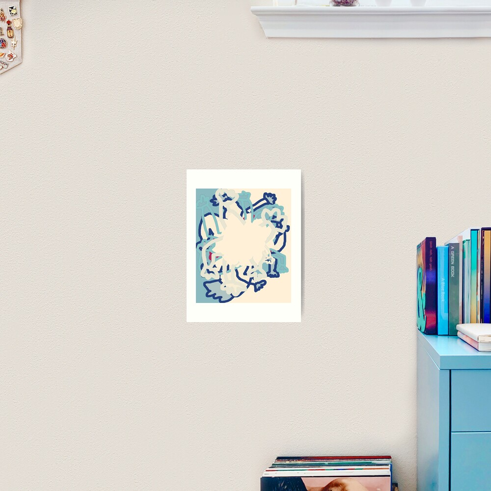 Digital Abstract Illustration, Rowdy Collection Designs Art Print