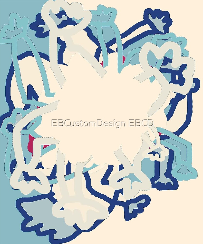 Digital Abstract Illustration, Rowdy Collection Designs by EBCustomDesign EBCD