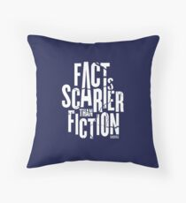 Casefile True Crime – Fact Is Scarier Than Fiction (Light) Throw Pillow