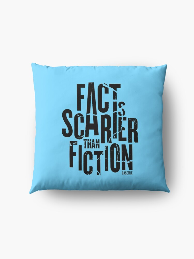 Alternate view of Casefile True Crime – Fact Is Scarier Than Fiction (Dark) Floor Pillow